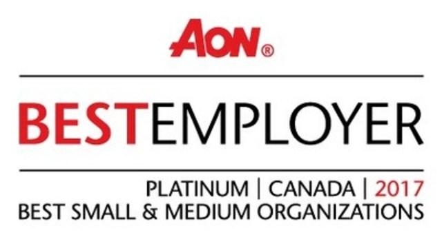 LOGO : Aon Best Employer 2017 (Groupe CNW/Vigilant Global)