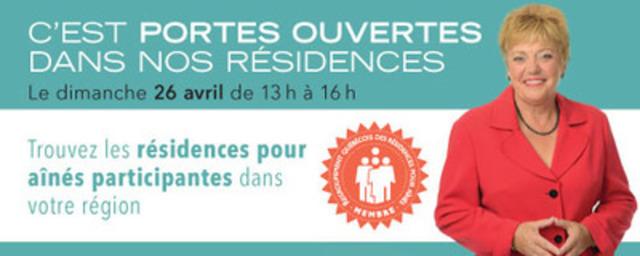 Journée portes ouvertes du Regroupement québécois des résidences pour aînés (RQRA) (Groupe CNW/Regroupement québécois des résidences pour aînés)