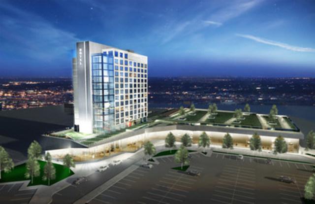 Construction d'un centre de congrès et d'un hôtel à Saint-Hyacinthe - La population donne le feu vert au projet (Groupe CNW/Ville de Saint-Hyacinthe)