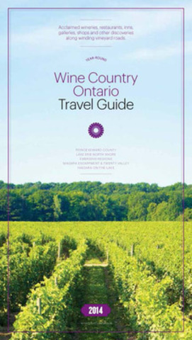 Front Cover of the Wine Country Ontario - Travel Guide, 2014 Edition (CNW Group/Wine Country Ontario)