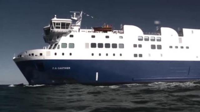 Vidéo : Traverse Matane-Baie-Comeau-Godbout - Arrivée du NM F.-A.-Gauthier à Matane : premier traversier propulsé au GNL en Amérique du Nord