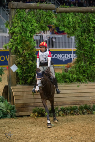 """Bruce Davidson, Jr., of the United States finished as the runner-up riding Wundermaske in his Royal Horse  ..."
