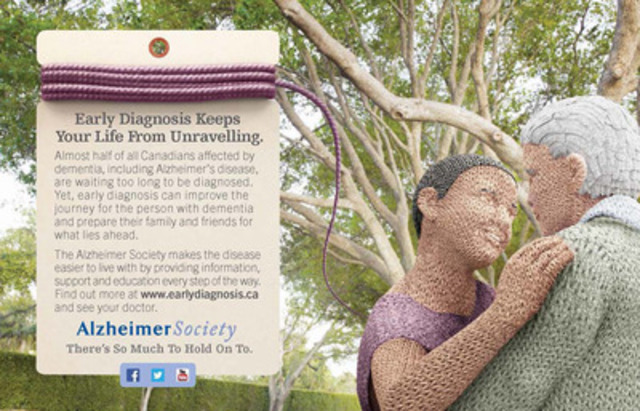 Print PSA: Early diagnosis keeps your life from unravelling (CNW Group/Alzheimer Society of Canada)