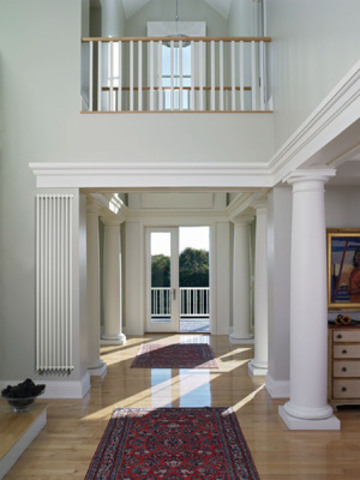 Instead of re-heating cold air once the temperature drops below a set level, radiant heating provides consistent, even heat throughout the home. Column Radiators (pictured) can be mounted directly on walls or set as room dividers. Available in more than 100 colours they can be as narrow or wide as required for optimum heat distribution and space requirements. (CNW Group/Beautiful Heat)