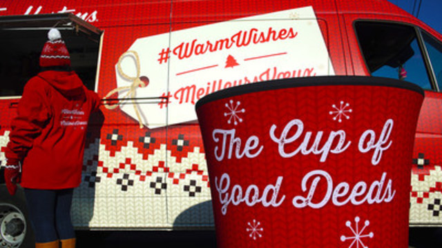 Visit one of six Tim Hortons Coffee Trucks across the country to drop a wish in the Cup of Good Deeds (CNW ...