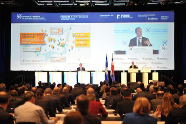 Des investissements de plus de 4 milliards de dollars présentés au Forum stratégique sur les grands projets auquel assistaient quelques 425 décideurs montréalais réunis au Palais des congrès de Montréal. (Groupe CNW/Chambre de commerce du Montréal métropolitain)