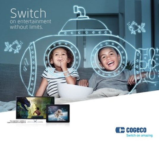 Switch on entertainment without limits. (CNW Group/Cogeco Connexion)
