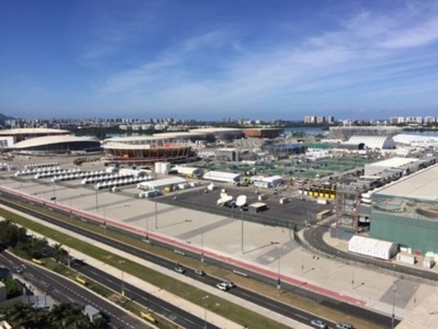 Aerial view Barra area of Rio de Janeiro, Rio 2016 Games (CNW Group/Dejero Labs Inc.)