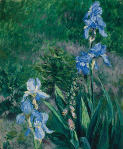 Gustave Caillebotte, Iris bleus, jardin du Petit Gennevilliers (est. $600,000 - 800,000) (CNW Group/Heffel Fine Art Auction House)