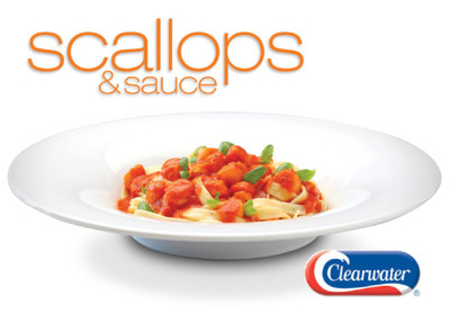 Clearwater expands Scallops & Sauce product line with Marinara and Sun-Dried Tomato varieties. (CNW Group/Clearwater Seafoods Incorporated)