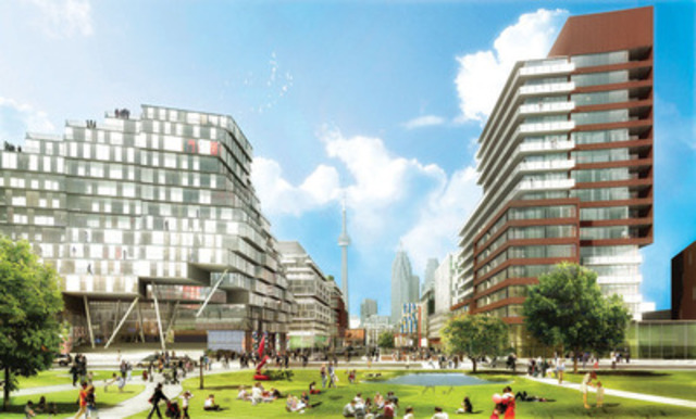 Neighbourhood Parkview: DundeeKilmer Integrated Design Team (CNW Group/Canary District Condominiums)