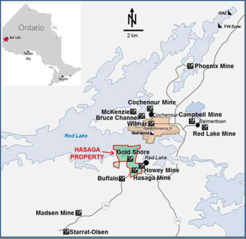 Image 1 - Hasaga Property location map  (CNW Group/Premier Gold Mines Limited)