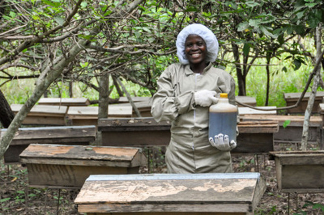 A Beehive is featured on the 'Most Needed Gifts' list from World Vision. Canadians have a global impact when they choose to give tangible donations, like Beehives, as presents. (CNW Group/World Vision Canada)