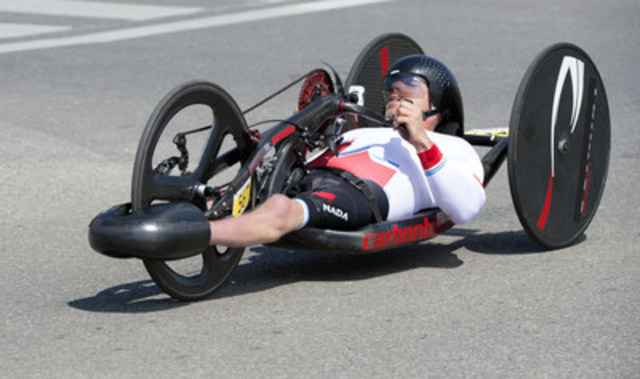 Charles Moreau (Victoriaville, Que.) est parmi les 12 paracyclists mis en nomination pour Equipe Canada pour les Jeux paralympiques de Rio 2016. (Groupe CNW/Comité paralympique canadien (CPC))