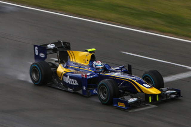 Nicholas Latifi is racing for the championship-winning DAMS team in this year's GP2 Series (CNW Group/Latrus Racing Corp.)