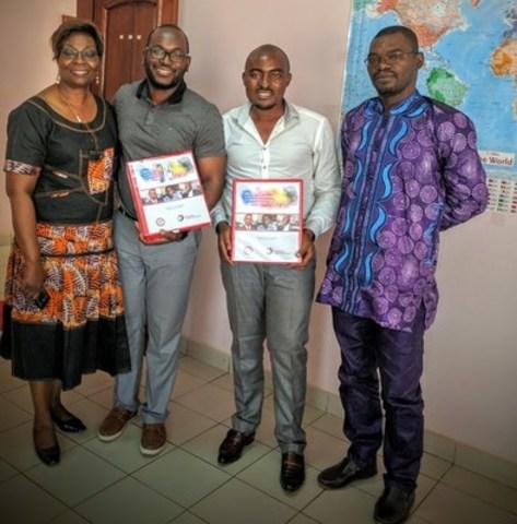 Serge Poueme, directeur fondateur de Camidus lors de sa dernière mission commerciale au Cameroun (Groupe CNW/Les Offices Jeunesse Internationaux du Québec)
