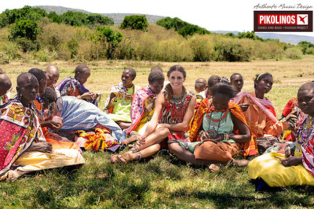 The Spring/Summer 2013 campaign was captured on location in Kenya, with its Pikolinos Maasai Project brand ambassador, Olivia Palermo. (CNW Group/Estrada Footwear)