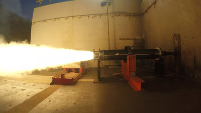 Rocket motor test of Raytheon's DeepStrike missile being conducted at Allegany Ballistics Laboratory in West Virginia. Raytheon Photo.