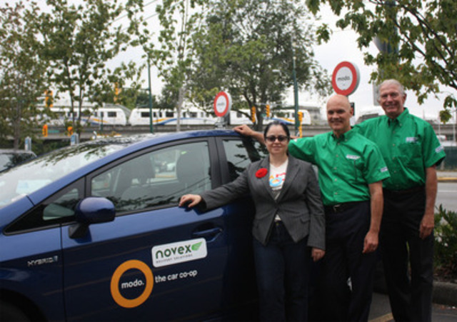 Modo and Novex make history - An innovative partnership marks a first for both the courier and carsharing industries (CNW Group/Modo The Car Co-op)
