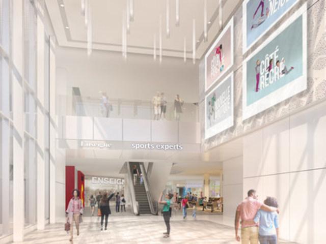 Ivanhoé Cambridge annonce un investissement de 44 M$ dans le redéveloppement du Carrefour de l'Estrie (Groupe CNW/Ivanhoé Cambridge)