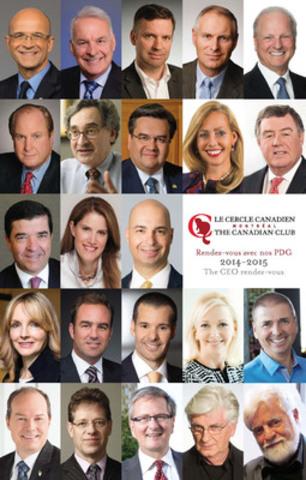 Conférenciers 2014-2015. (Groupe CNW/Cercle canadien de Montréal)