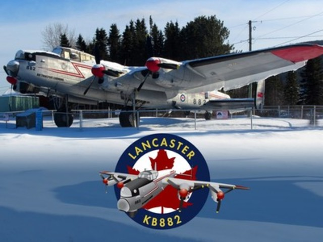 After 51 years - it's time for Lancaster KB882 to come in from the cold. (CNW Group/Alberta Aviation Museum)