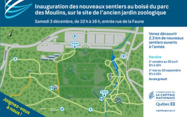 Invitation et plan du site (Groupe CNW/Commission de la capitale nationale du Québec (CCNQ))