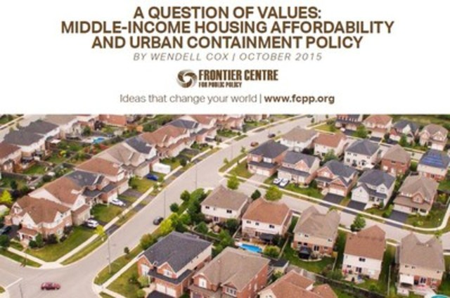 Urban Containment, a Question of Values (CNW Group/Frontier Centre for Public Policy)