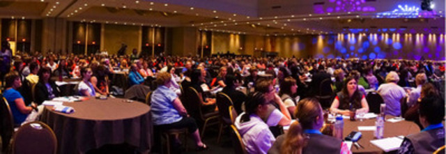 Some of the more than 850 delegates at the June 4 plenary of the Canadian Federation of Nurses Unions' 2013 Biennial Convention at the Westin Harbour Castle Hotel in Toronto. (CNW Group/Canadian Federation of Nurses Unions)