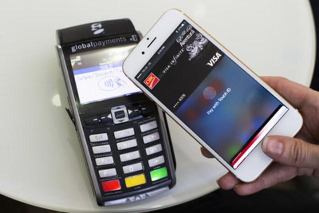 Intégrant en toute transparence le capteur Touch ID aux fins d'authentification des utilisateurs, Apple Pay offre une expérience de paiement intuitive et sécurisée aux clients de la Banque CIBC (Groupe CNW/CIBC - Entreprise)