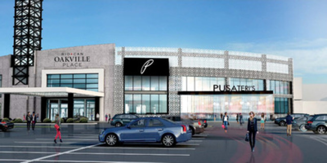 RioCan Oakville Place announces today a $30 million redevelopment of RioCan Oakville Place including the first Pusateri's in the West GTA scheduled to open in time for the holidays 2015. (CNW Group/RioCan)