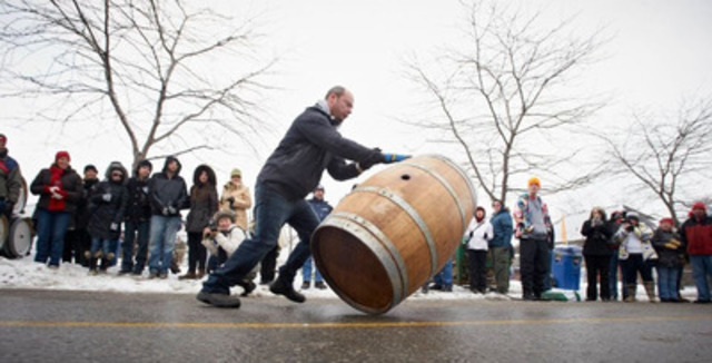 Winemakers Barrelroll at the Street Festival (CNW Group/Wine Country Ontario)