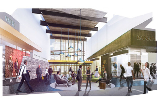 The Outlet Collection at EIA will feature 350,000 ft2 of retail outlets offering value from over 85 renowned brands, all housed under one roof. (CNW Group/Ivanhoé Cambridge)