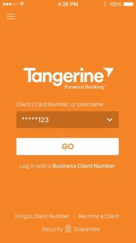 Today, Tangerine launched its new Mobile Banking App for iOS™, a rebuild that includes innovative, first-to-market technologies like EyeVerify™'s Eyeprint ID™, Nuance VocalPassword™ and in-app Secure Chat. (CNW Group/Tangerine)