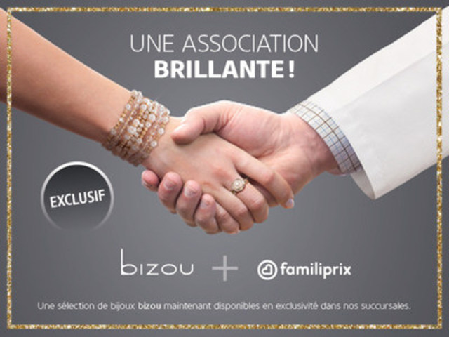 Une association brillante! Bizou + Familiprix (Groupe CNW/Familiprix)