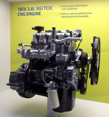 Tata 3.8L natural gas engine featuring Westport WP580 Engine Management System (CNW Group/Westport Innovations Inc.)