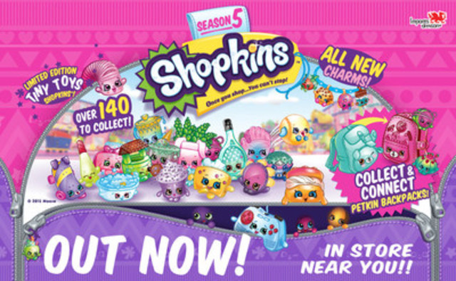 Fun for everyone with the new Shopkins Season 5. Out now in a store near you ! (CNW Group/Imports Dragon)