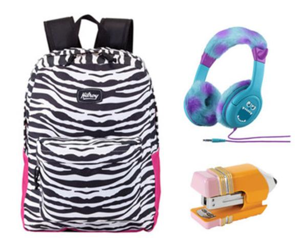 Staples/Bureau en Gros propose les meilleures fournitures scolaires : des sacs à dos à zébrures aux agrafeuses originales, en passant par des écouteurs en peluche de marque Monstres et Cie. (Groupe CNW/Staples Canada/Bureau en Gros)