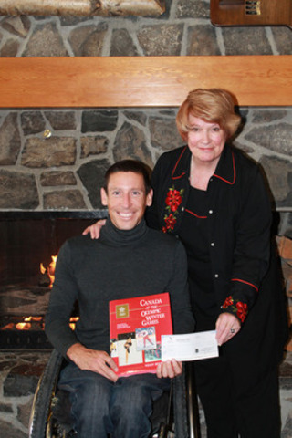 """Canadian para-Nordic sit-skier Chris Klebl of Canmore, Alberta, has received a $1,000 Bryden Bursary to support his training for the Sochi 2014 Paralympic Winter Games. Calgary author Wendy Bryden established the Bryden Bursary in 1988, using royalties from her best-selling book, """"Canada at the Olympic Winter Games."""" (CNW Group/Canadian Paralympic Committee (CPC))"""