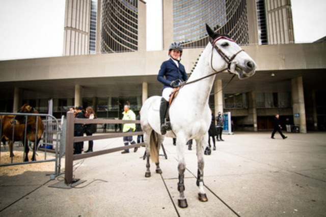 Equestrian Sam Walker, 11, pictured here at Toronto City with his pony Flying Solo, will compete at The Royal Agricultural Winter Fair, running Nov. 1-10 (Photo credit: Mark Peachey, The Digitalist) (CNW Group/The Royal Agricultural Winter Fair)