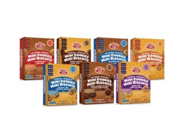 Le 4 décembre 2016, célébrez la journée nationale du biscuit avec les nouveaux Mini-Biscuits Enjoy Life Foods! Une collection de délicieux petits biscuits sans gluten et sans allergènes prioritaires, parfaits pour les collations sur le pouce, tout au long de l'année! (Groupe CNW/Enjoy Life Foods)