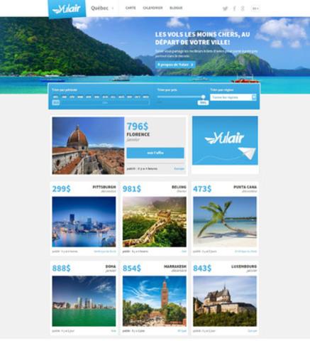 Yulair développe une nouvelle plateforme de voyage et ajoute des départs de la ville de Québec (Groupe CNW/Yulair)