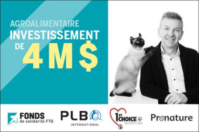 Le Fonds de solidarité FTQ investit 4 M $ pour appuyer la croissance du manufacturier de nourriture pour animaux PLB International (Jocelyn Brasseur, président de PLB) (Groupe CNW/Fonds de solidarité FTQ)