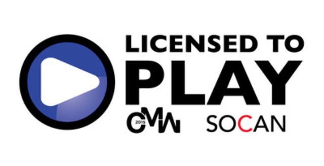 Canadian Music Week devient le premier festival de musique majeur à être AUTORISÉ À VOUS DIVERTIR par une licence de la SOCAN, en soutien à des droits musicaux équitables. (Groupe CNW/SOCAN)