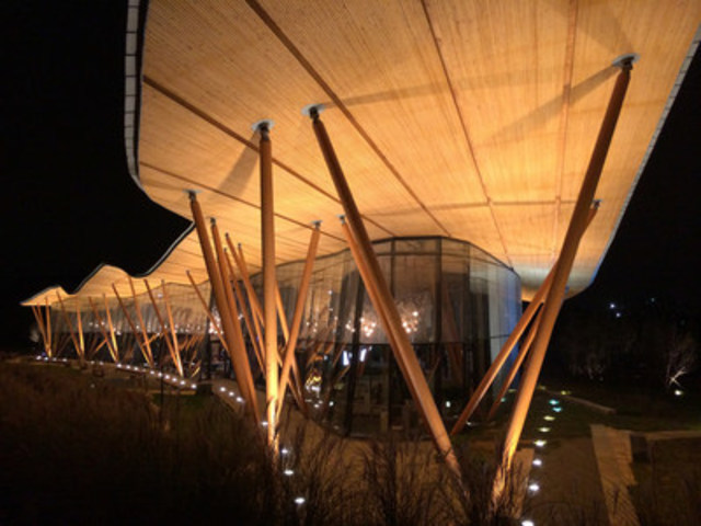 Winner: International Wood Design: Tsingtao Pearl Visitor Centre, Qingdao, China - Gerald Epp, StructureCraft Builders (CNW Group/Canadian Wood Council for Wood WORKS! BC)