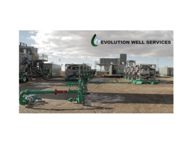Evolution Well Services demonstrates a cleaner and environmentally viable fracturing solution. (CNW Group/M-Powered Solutions Inc.) (CNW Group/Evolution Well Services)