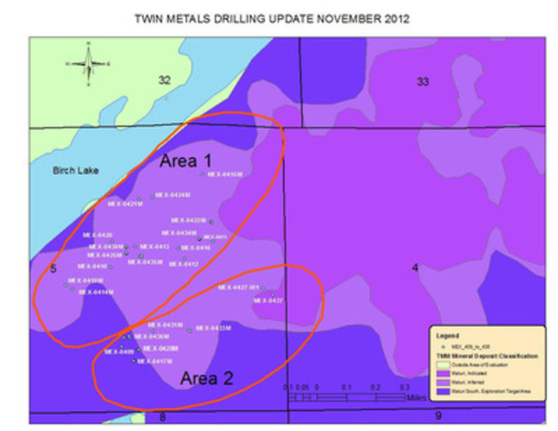 Figure 1 is a map illustrating the location of 23 drill holes reported in this press release which can be found on the Company website under this press release at www.duluthmetals.com. (CNW Group/Duluth Metals Limited)