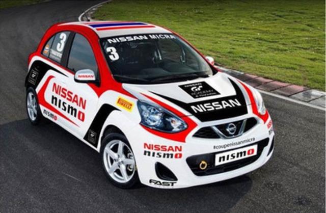 La Nissan Micra aux couleurs de la Nissan PlayStation GT Académie. (Groupe CNW/Nissan Canada Inc.)