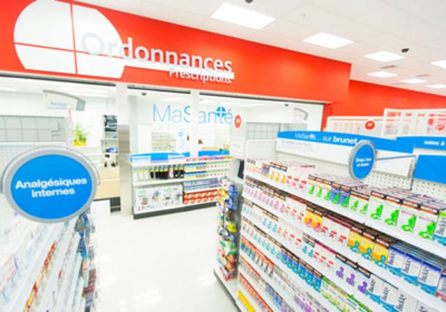 Target a annoncé aujourd'hui que deux pharmacies affiliées à Brunet Target sont désormais ouvertes dans les magasins de Brossard et de Sainte Dorothée. Comme annoncé précédemment, 18 pharmacies exploitées par des pharmaciens propriétaires affiliés à Brunet ouvriront dans les magasins Target du Québec en 2014. (Groupe CNW/Target Canada)