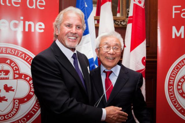 Mr L. Rémillard and Dr Yosh Taguchi (CNW Group/MCGILL UNIVERSITY)